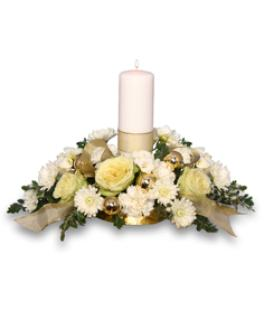 Ivory Light Centerpiece